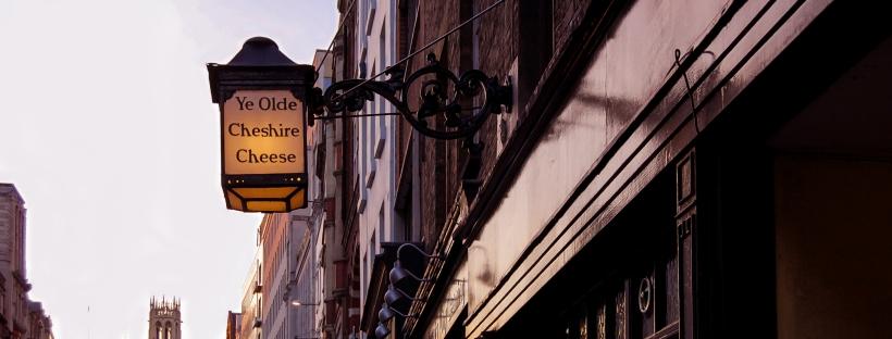 londres, pub, city, lanterne